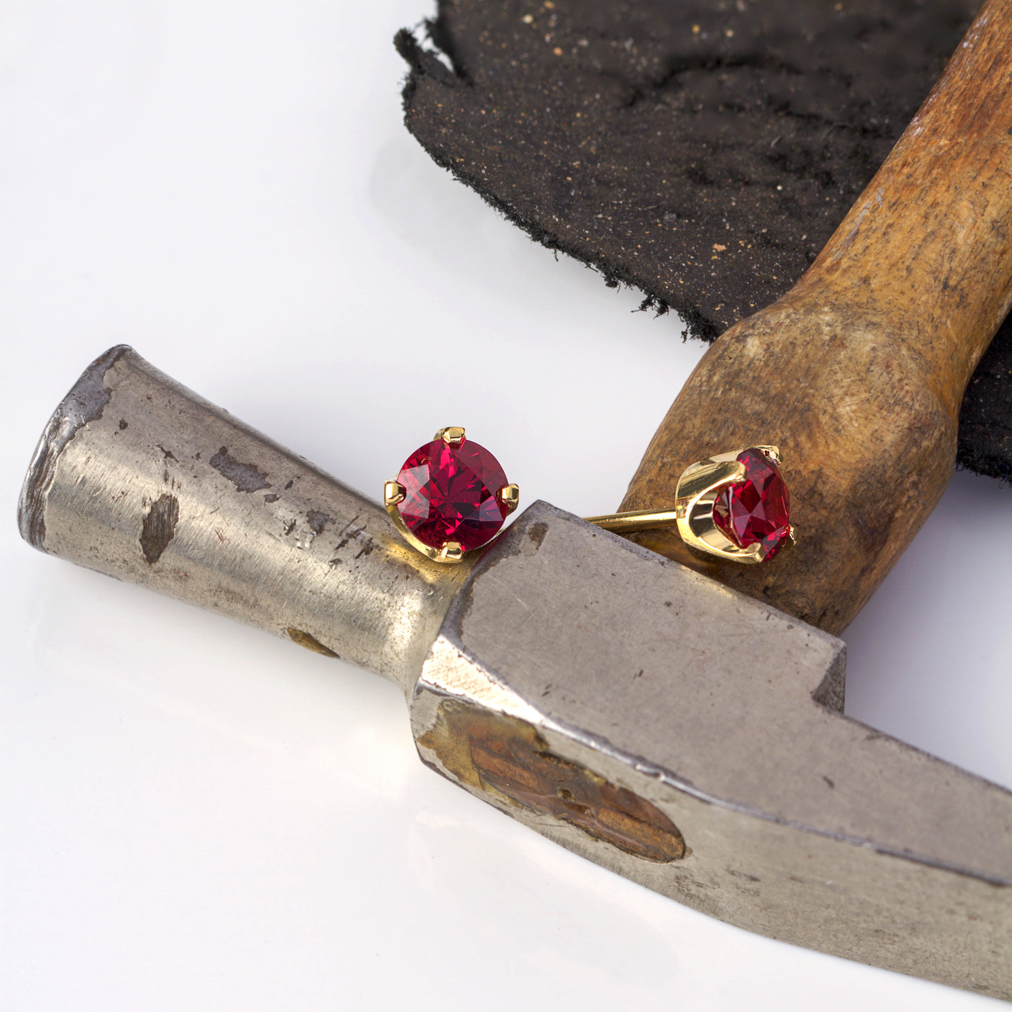 Red Spinel Earrings MJS Jewellery