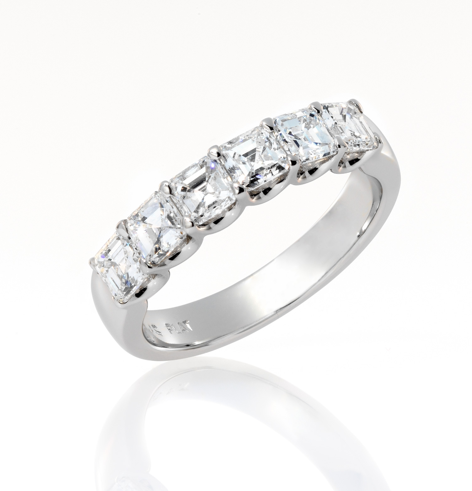 and band tw diamond platinum round baguette bands wedding in
